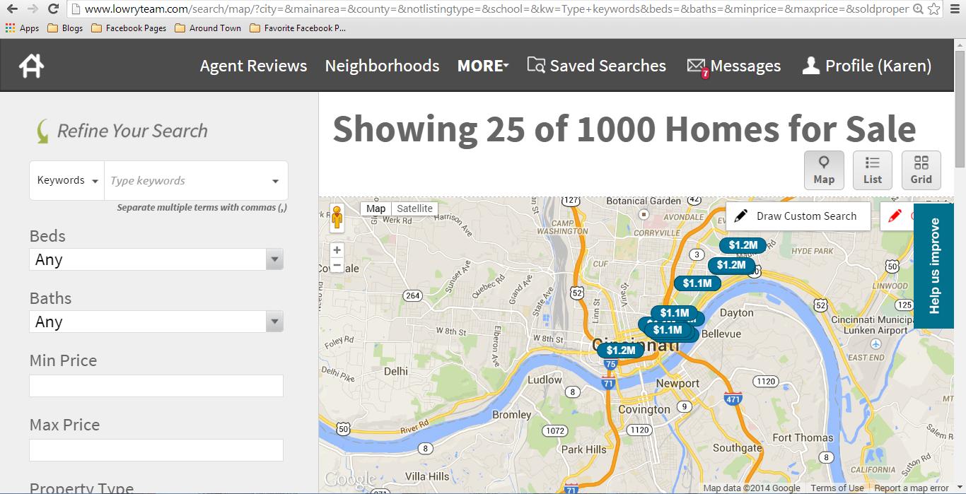 Search Cincinnati Real Estate